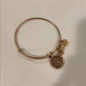 Alex and Ani J initial bracelet
